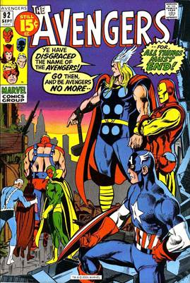 Image result for avengers #92 cover neal adams